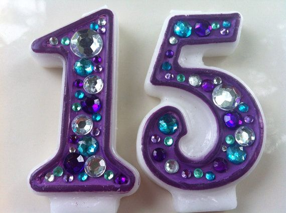 Birthday Candle Blinged Out Number DOUBLE By WickedWishez