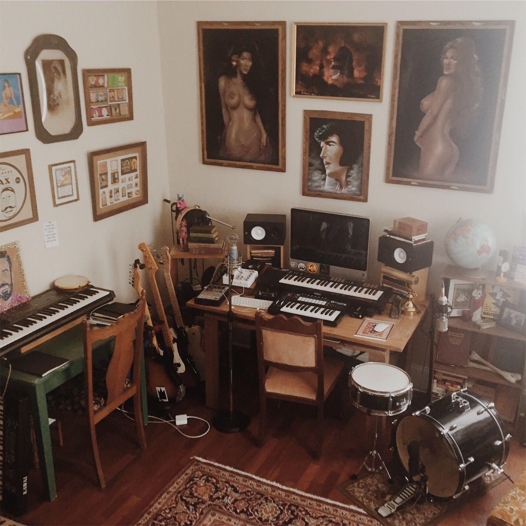 Home Recording Diy Setup Home Studio Setup Home Music Rooms Music Studio Room Bedroom home recording studio