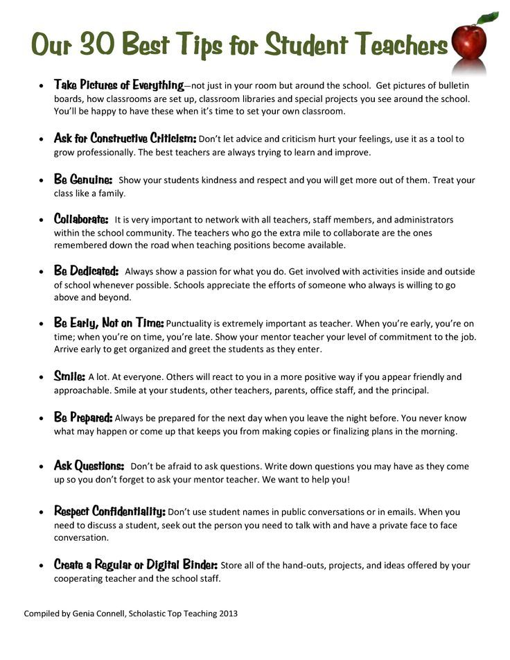 Great Tips To Share With All Student Teachers Substitute Teaching Student Teaching Teaching