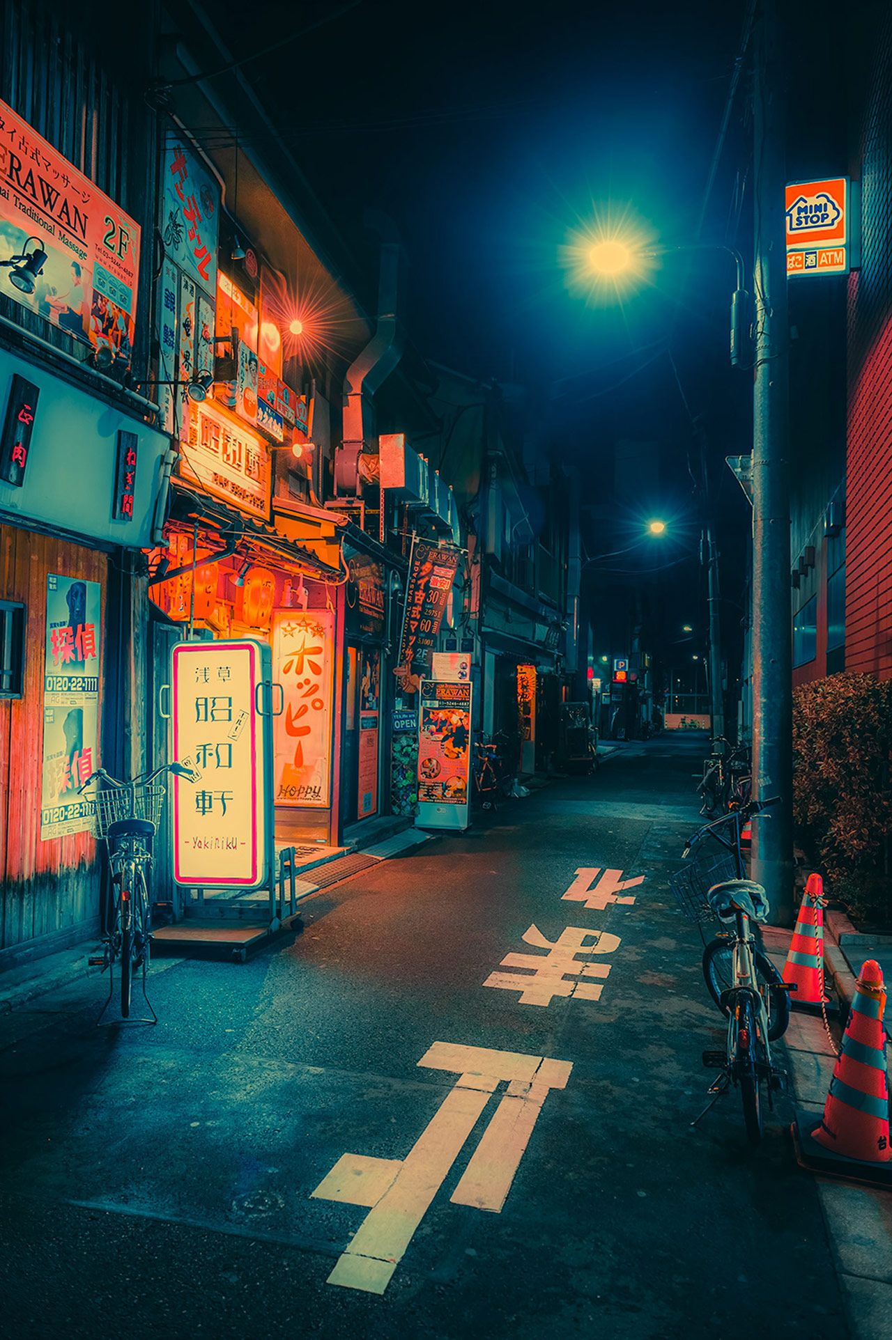 Dream World Neon Colored Japan Captured By Photographer Anthony Presley In 2021 Anime Scenery Wallpaper Night Photography Scenery Wallpaper