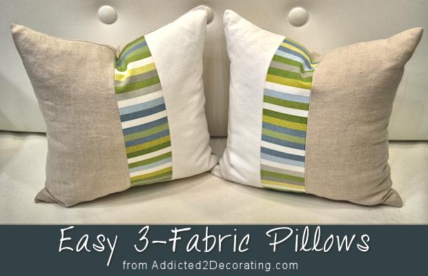 DIY: Easy Three-Fabric Decorative Pillows
