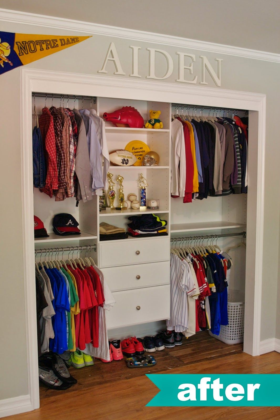 Superieur Kids Closet Organization Ideas. LOVE NAME UP TOP.
