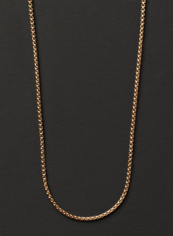f64d5179eb84 Gold jewelry for men - Gold chain for men - Men s gold necklace - 14 k Gold  filled necklace for men