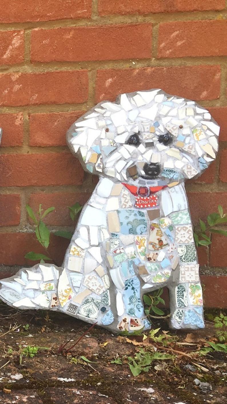 Animal Mosaic Animal Ornament Garden Art Pet Portrait Pet Etsy Mosaic Animals Mosaic Art Mosaic Tile Art
