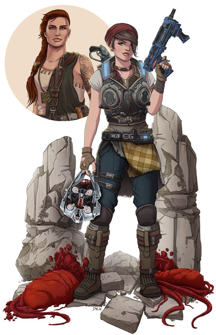 Kait And Reyna Taking Out A Deebee By Pax112 Gears Of War Gears Of War 3 Character Design