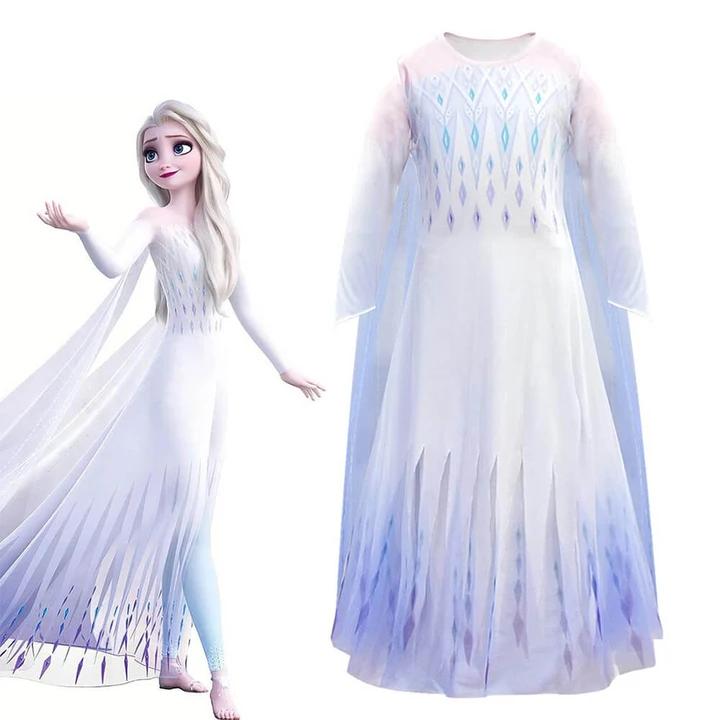 Newest Kids Princess Elsa Dress With Leggings Girls Elsa 5 Pcs Full Set Dress Up Costume Princess Elsa Dress Princess Elsa Costume Elsa Dress