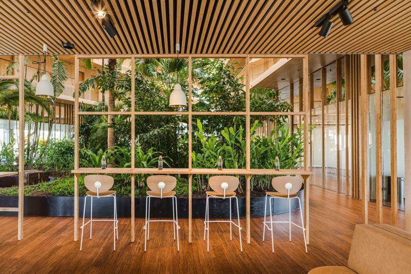 Riesenbambus In Der Hotelarchitektur Hotelstyle At Grune Architektur Architektur Architekt