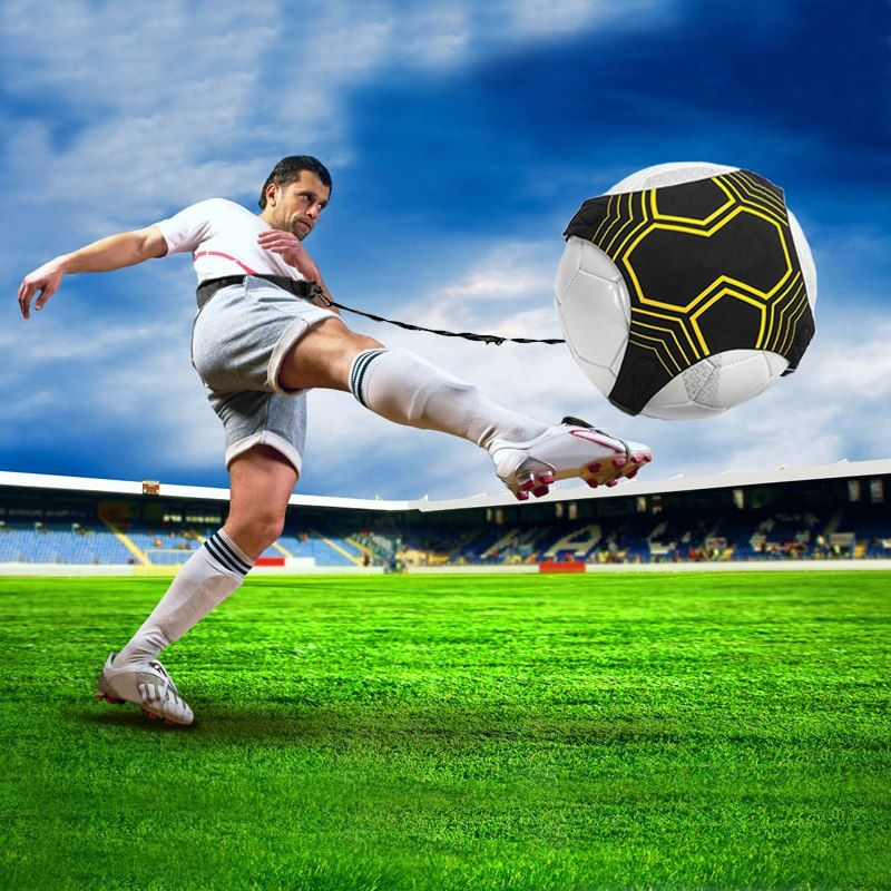 Adjustable soccer ball juggle bags kids auxiliary circling
