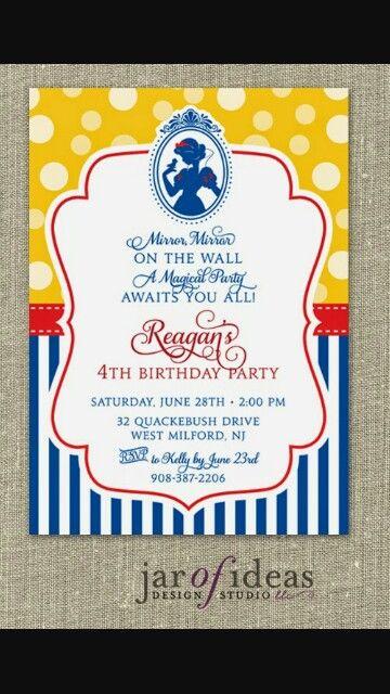 snow white birthday party invitations koni polycode co