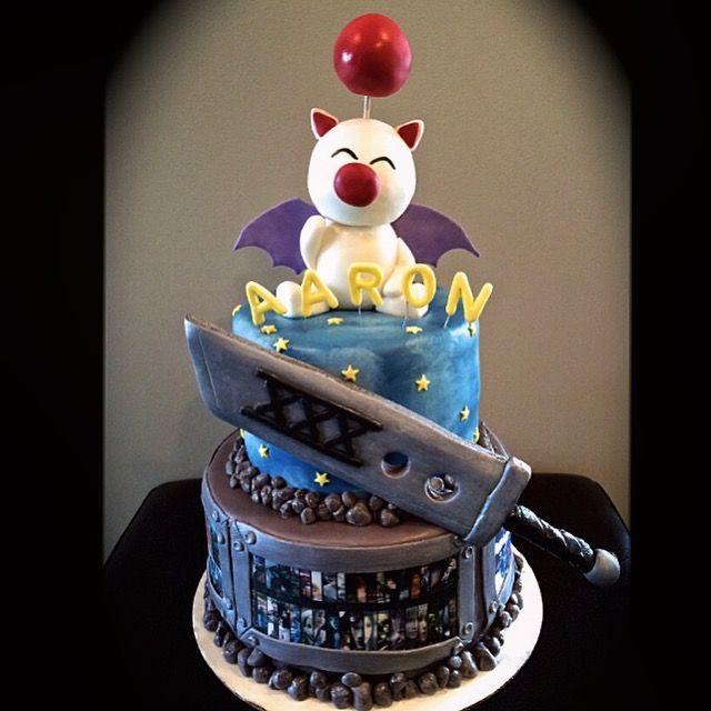 Delivery Moogle Birthday Card Final Fantasy Themed: Www.sweetycakes.ca Calgary Custom Cakes
