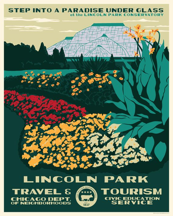 Lincoln Park poster by Steve Shanabruch