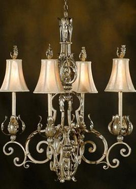Beautifully illuminate any room in your home with the sophisticated Maura 4-Light Chandelier; complete with durable iron frame expertly finished in a metallic French beige for elegance.