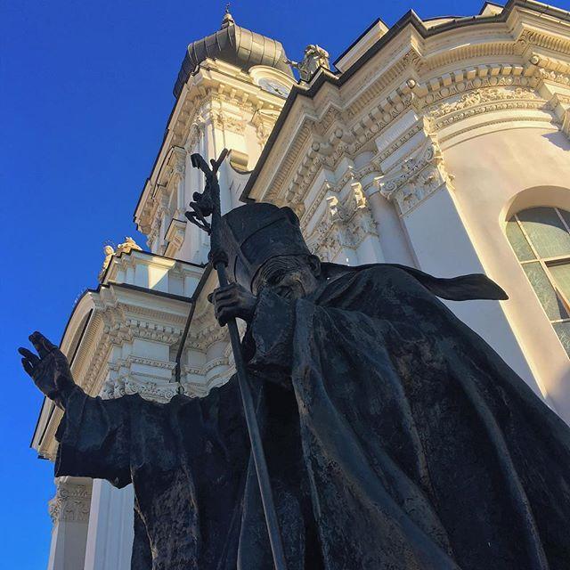Sob o azul de Wadowiche, terra do nosso querido São João Paulo II.