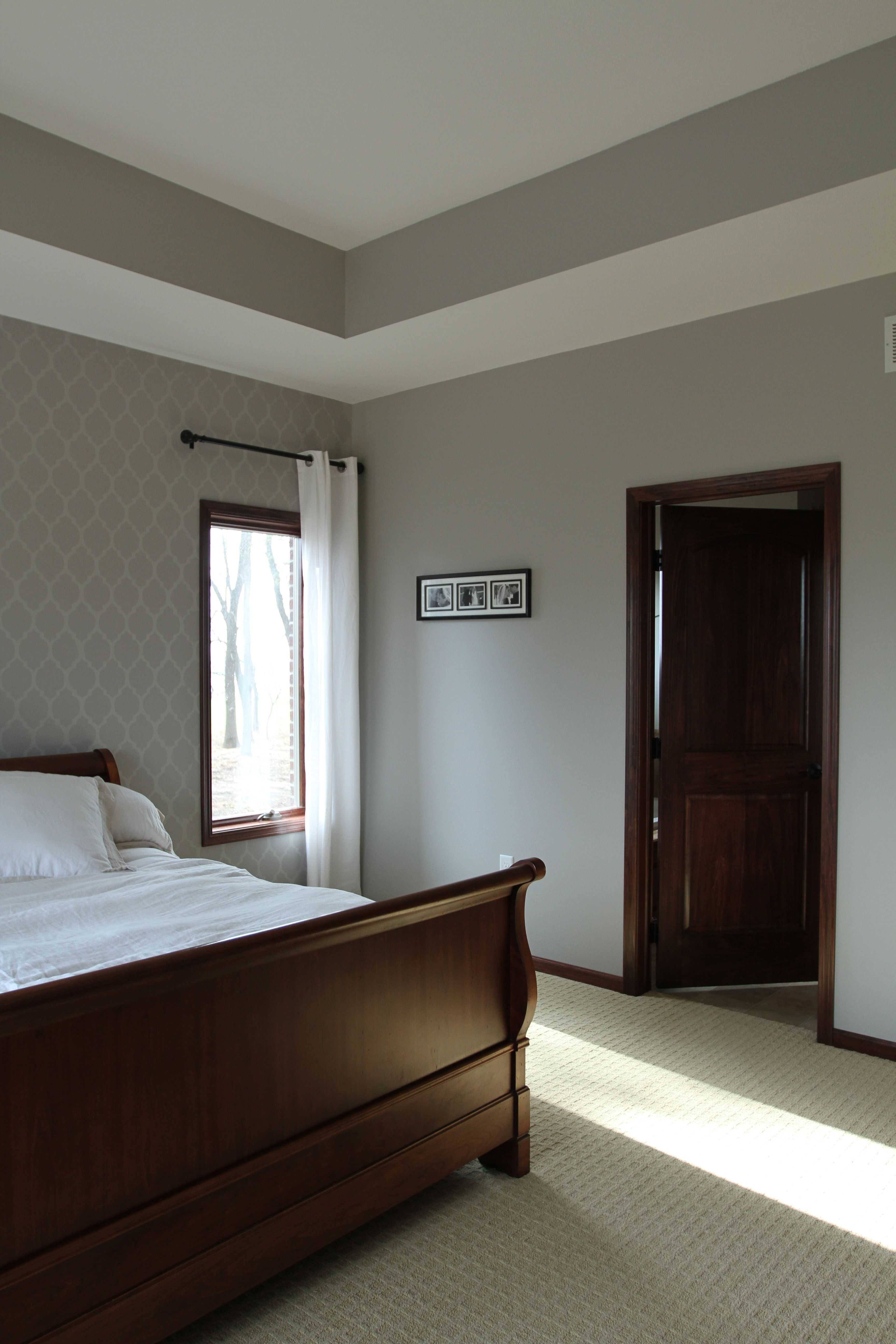 Interior Doors | A Master Bedroom With A Two Panel, Arched, Poplar Door