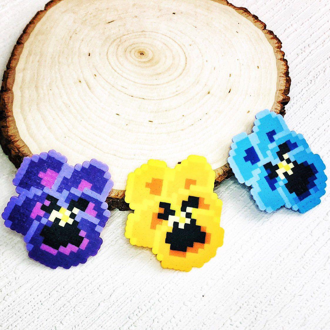 Flower perler earrings *free shipping*
