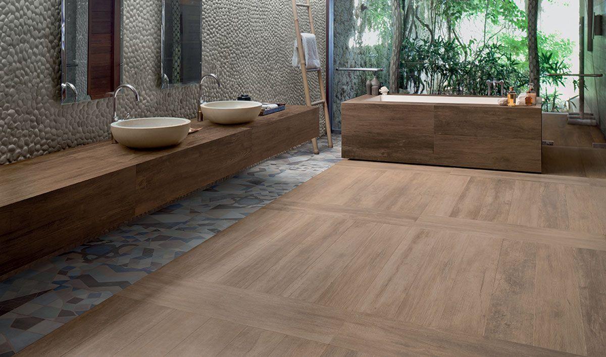 Betegelen Vloer Badkamer : Warm#modern#niet te onderscheiden van een echte houten vloer jve