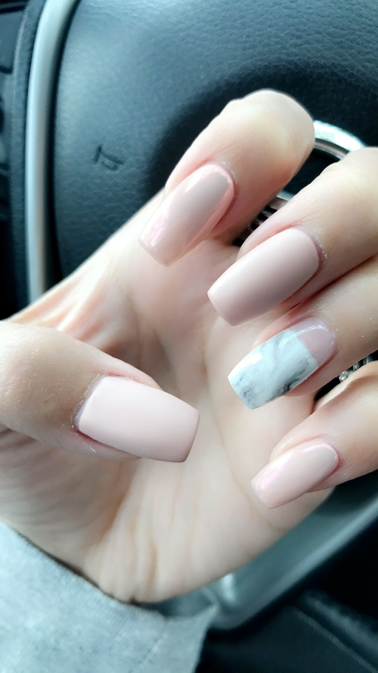 Just Got Acrylics For The First Time No One Tells You How Much They Hurt For The First Day Feels Like I Bruised My Fingers Nails Nail Designs Marble Nails