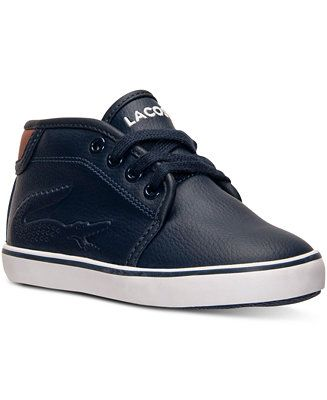 62d940c6b4cd Lacoste Toddler Boys  Ampthill Chunk Casual Sneakers from Finish Line -  Shoes - Kids   Baby - Macy s