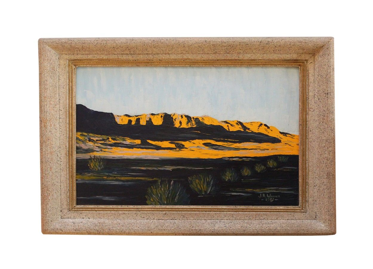 a 1950s original oil painting (signed and dated), modern impressionist | via rummage home