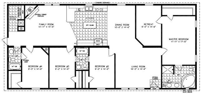 Free Mobile Home Floor Plans: Manufactured Homes Floor Plans