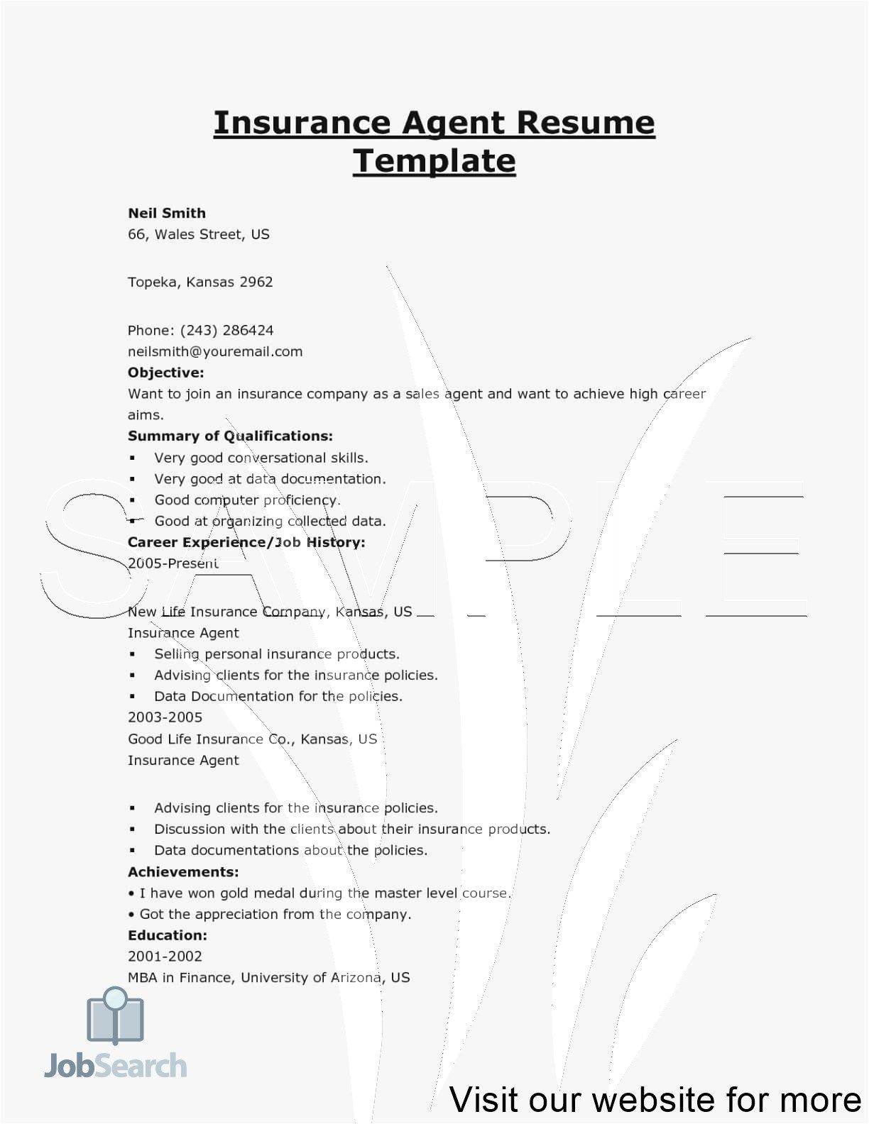 Insurance Agent Resume Examples Sales Resume Sales Resume Examples