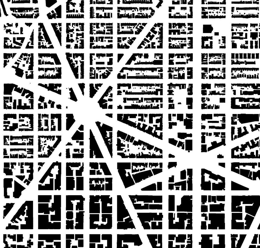 Dupont Figure Ground Map City layout, Diagram
