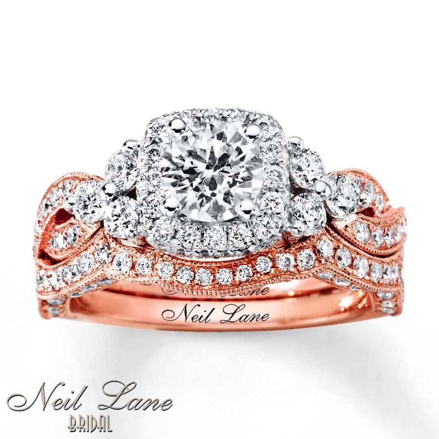 1574bd5f8 For sure my dream ring! Why does it have to be so expensive!! Neil Lane  Bridal Set 2 ct tw Diamonds 14K Two-Tone Gold