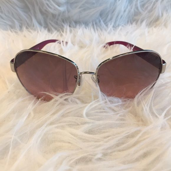 3314653040 ... discount code for pink coach aviator sunglasses pink coach aviator  style sunglasses with silver framing and