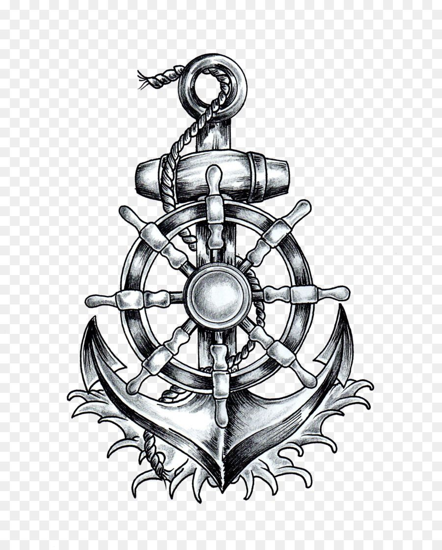 Anchor T Shirt Ship S Wheel Tattoo Drawing Anchor Png Is About