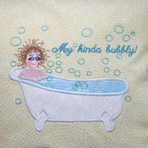Las Spa Bathroom Embroidery Lique Design