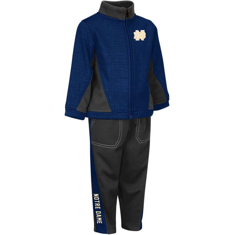 sneakers for cheap 5532f dbdb6 Notre Dame Fighting Irish Colosseum Toddler Top Gun Full-Zip Fleece Jacket    Pants Set - Navy Charcoal