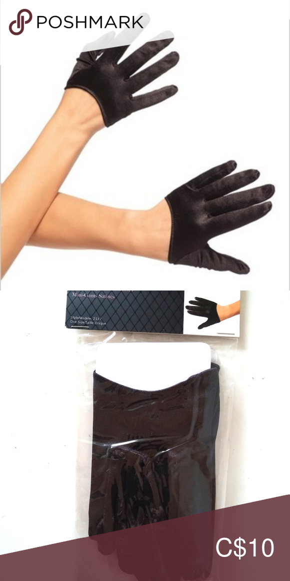 Leg Avenue Women/'s Mini Cropped Satin Gloves Black One Size