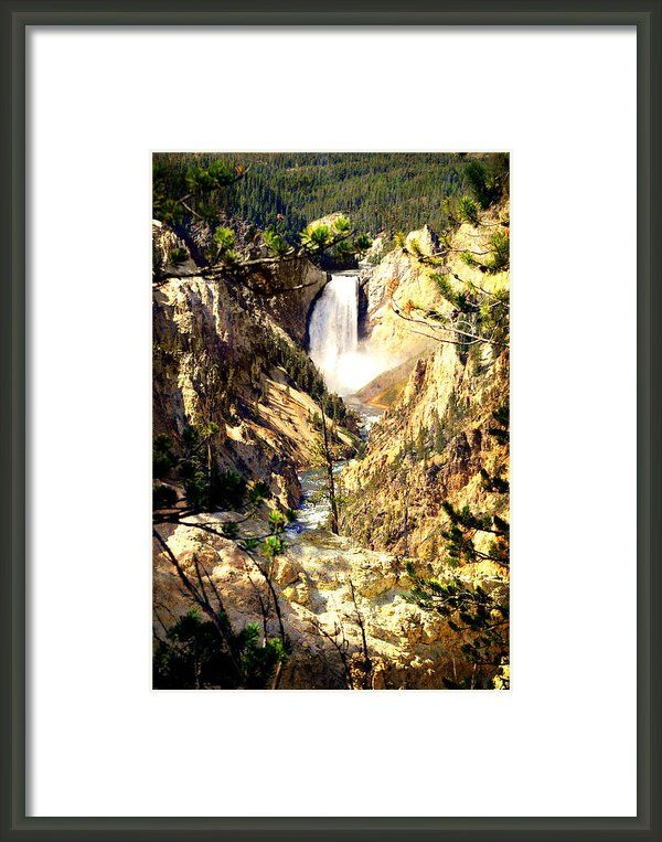 Lower Falls 2 Framed Print By Marty Koch   Nature Photo Art By Marty ...