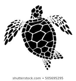 Graphic Sea Turtle Vector Stock Vector Royalty Free 681968116 Turtle Drawing Sea Turtle Art Turtle Art