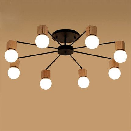 Ac100v 220v E27 Wood Led Ceiling Lights Living Room Bedroom Modern Ceiling Lamp Modern Lus Ceiling Lights Living Room Cheap Ceiling Lights Modern Ceiling Lamps