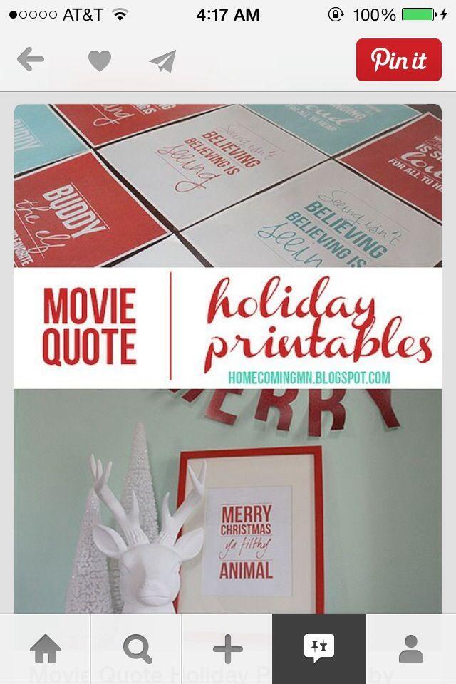 National Lampoon's Christmas Vacation Free Printables