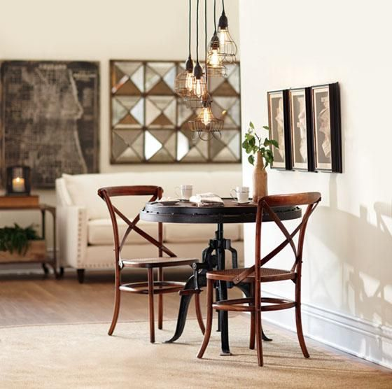 Industrial Adjustable-Height Table. HomeDecorators.com