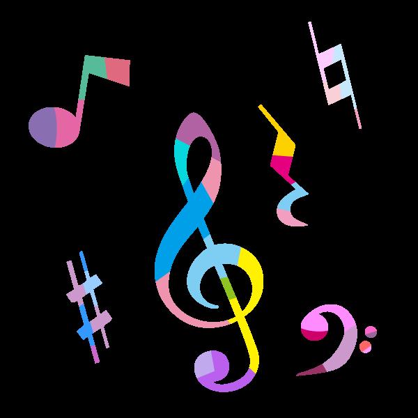 カラフルな音符のイラスト Line In 2019 音符 イラスト 音符 イラスト