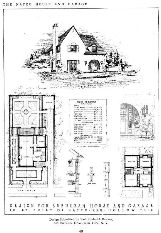 Model Suburban House For Natco Hollow Tile Competition 1914 Earl Frederick Bankes Suburban House Urban Planning Suburban