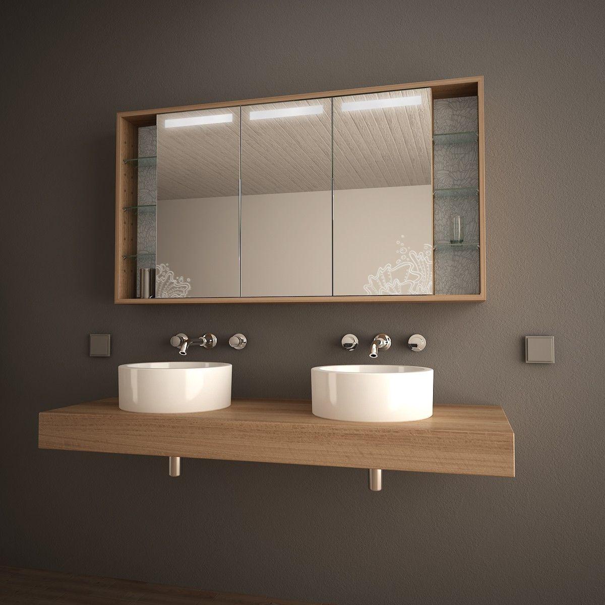 Bad-Spiegelschrank mit Licht Arida 989705252 | Gäste WC | Badezimmer ...