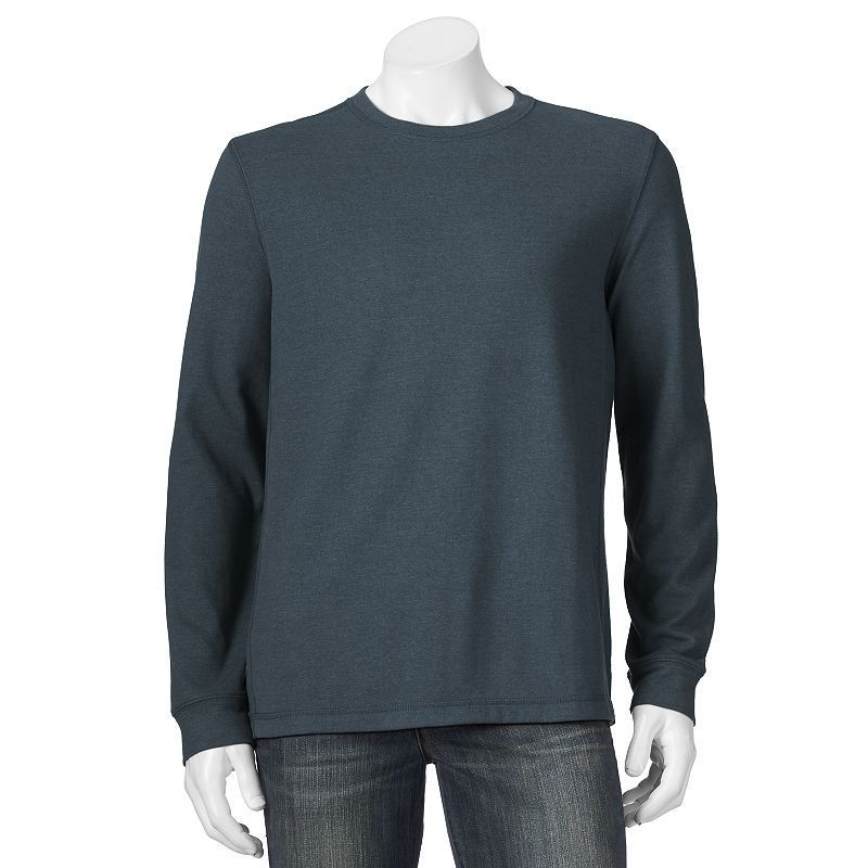 Men's Croft & Barrow® Easy-Care Fleece Crewneck Sweatshirt, Size: Medium, Dark Blue