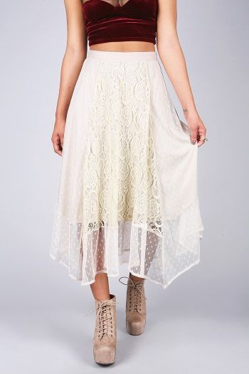 Pixie Sweep Skirt | Lace Skirts at Pink Ice