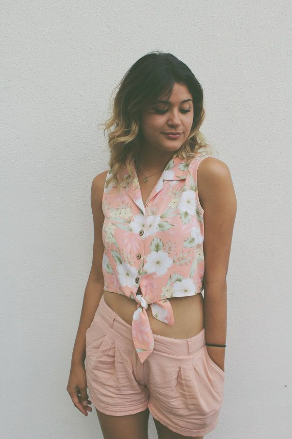 Sumer Luvin' Crop Tee by DejaVuVintageCompany on Etsy