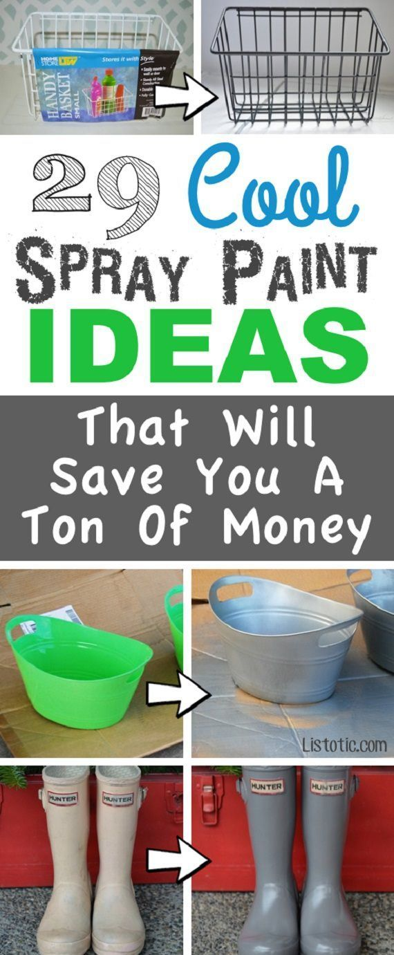 A huge list of easy diy spray paint ideas for the home revamping