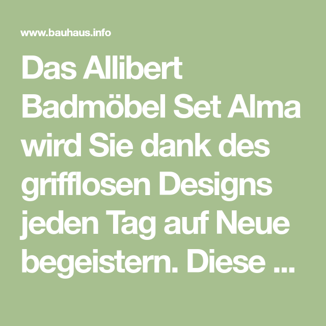Allibert Badmobel Set Alma Badmobel Set Bauhaus Info Badezimmerausstattung