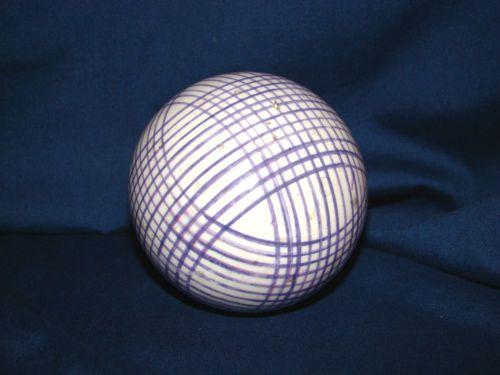 Victorian Antique Carpet Ball Purple Lines Ebay Bolitas Bolas
