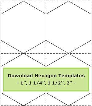 Tips for cutting hexagon templates /Geta's Quilting Studio ... : hexagon quilt pattern template - Adamdwight.com