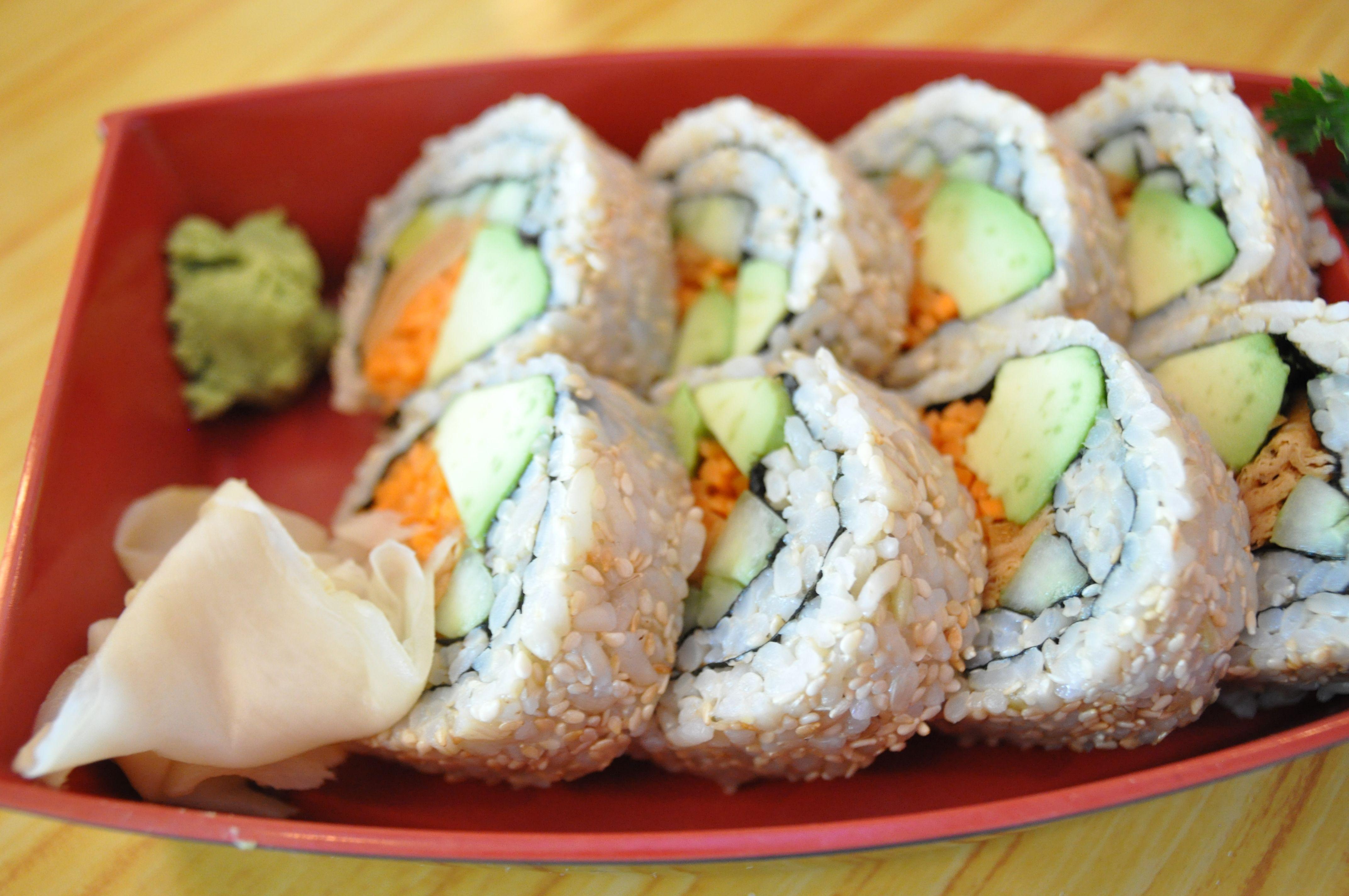 Yummy And Healthy Vegan Futomaki Rolls From Vegetable Garden Silver Spring Md Restaurant Healthy Vegan Food Yummy