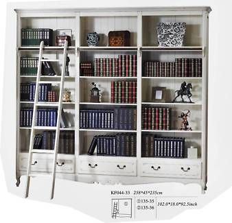 French Provincial Classic Display Library Bookcase With Ladder Bookcases Shelves Gumtree Australia Great French Provincial Decor Bookcase Classic Library