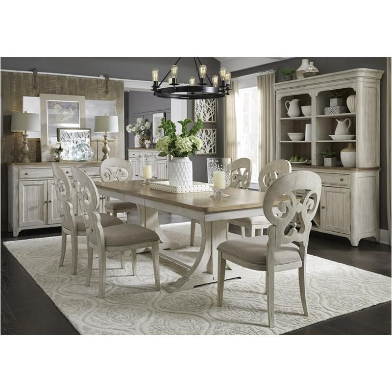 Dining Room Stores: 652-t4096 Liberty Furniture Farmhouse Reimagined Trestle
